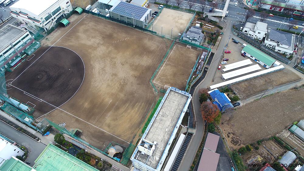 埼玉県新座市ドローン空撮 西武台高校